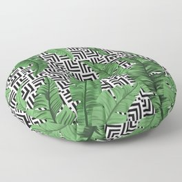 Tropical leaf pattern Floor Pillow