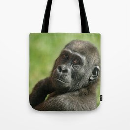 Gorilla Shufai Looking Over His Shoulder Tote Bag
