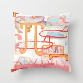 Exit To The Left Throw Pillow