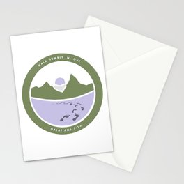 Galatians 5:13 [Army Green] Stationery Cards
