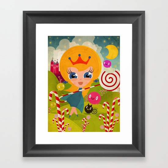 Caramel Princess Framed Art Print