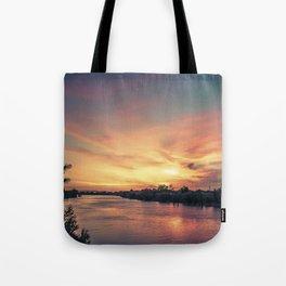 Sunset River - Sacramento River Tote Bag