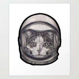 Cat astronaut Art Print