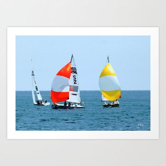 Chicago Sailing Art Print