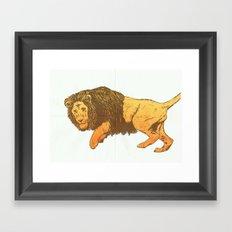 Riso-lion! Framed Art Print