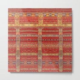 Heritage Moroccan Berber Artwork Design  Metal Print