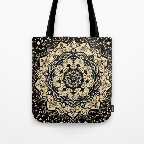 Indian Gold Mandala Tote Bag
