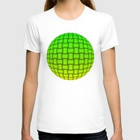 yellow pattern T-shirts featuring Weave Pattern - Green/Yellow by Lyle Hatch