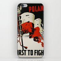 poland iPhone & iPod Skins featuring Poland First To Fight by Plecinoga Photography