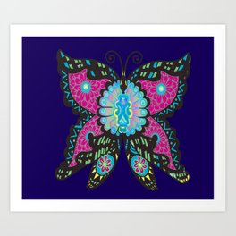 PSYCHEDELIC BUTTERFLY  Art Print
