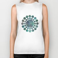 marianna Biker Tanks featuring Floral Abstract 4 by Klara Acel