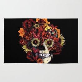Full circle...Floral ohm skull Rug
