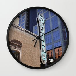 Vintage Portland Sign in the City Wall Clock