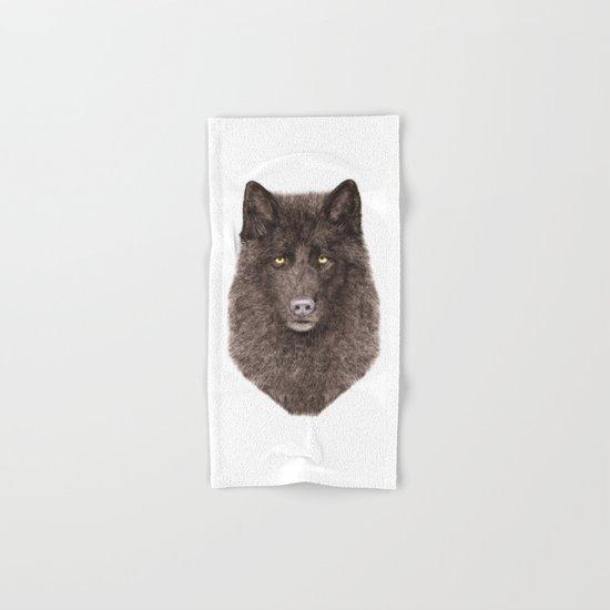Black Wolf Hand & Bath Towel