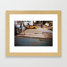 Horse in Manhattan Framed Art Print