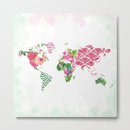 Tropical Map Metal Print