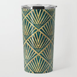 Stylish geometric diamond palm art deco inspired Travel Mug