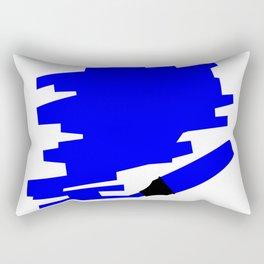 Dark Blue Marker Copy Space Rectangular Pillow