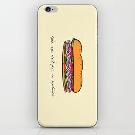 Ceci n'est pas un sandwich iPhone Skin