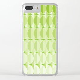 Leaves at springtime - a pattern in green Clear iPhone Case
