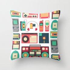 Retro Technology 1.0 Throw Pillow