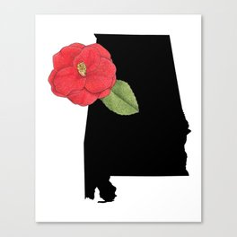 Alabama Silhouette Canvas Print