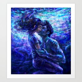 Out from the deep Art Print
