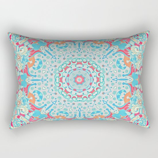 BOHO SUMMER JOURNEY MANDALA Rectangular Pillow