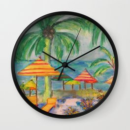 Cozumel A Day At The Beach Wall Clock