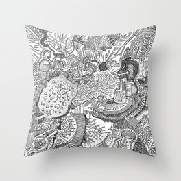 Abstract Pen & Ink #1 Throw Pillow