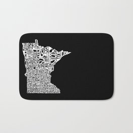 Typographic Minnesota Bath Mat