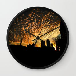 The Crack of Dawn Wall Clock