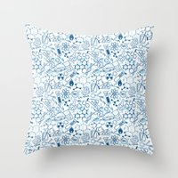 chemistry Throw Pillows featuring Chemistry by SandiTyche
