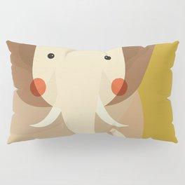 Elephant, Animal Portrait Pillow Sham