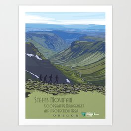 Vintage Poster - Steens Mountain Protection Area, Oregon (2015) Art Print