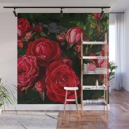 red rosebush deux Wall Mural