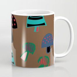 Cute Mushroom Brown Coffee Mug