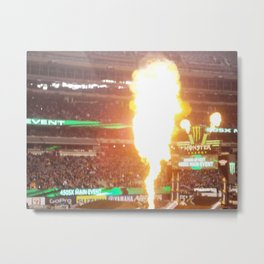 MX Supercross Explosive Fire Metal Print