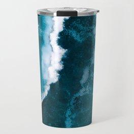 Wild Blue Ocean Wave – Oceanscape Photography Travel Mug