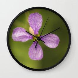nature in purple Wall Clock