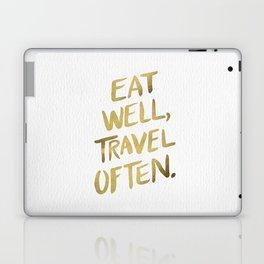 Eat Well Travel Often on Gold Laptop & iPad Skin