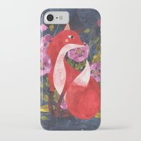oana befort iPhone & iPod Cases featuring FOX & FLORA by Oana Befort