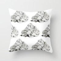 shells Throw Pillows featuring SHELLS by sincerelykarissa