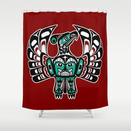 Northwest Pacific coast Haida art Thunderbird Shower Curtain