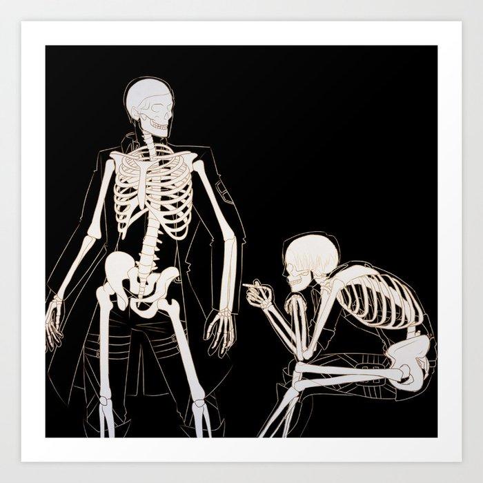 Eruri: Twin Skeletons Art Print