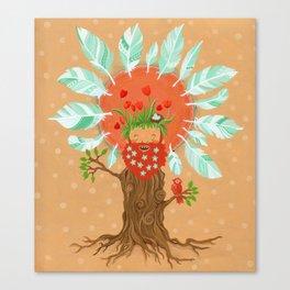 Ginger Birdfriend.  Canvas Print