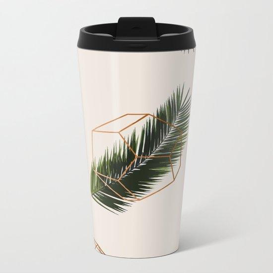 Palm + Geometry #society6 #decor #buyart Metal Travel Mug