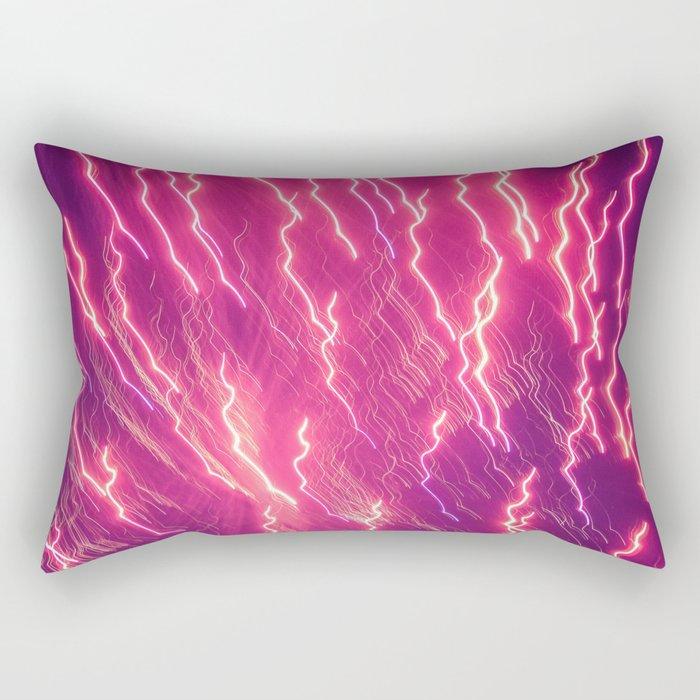 Pink Firework Rectangular Pillow