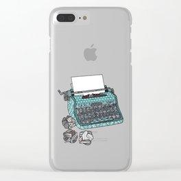 Typewriter Clear iPhone Case