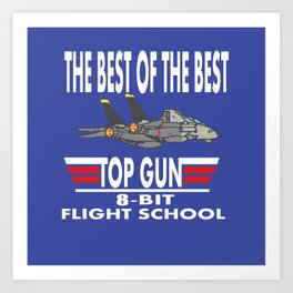 8-Bit Flight School Art Print